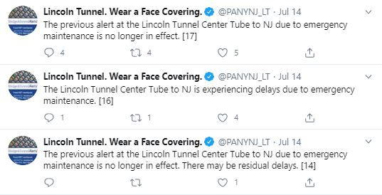 Lincoln Tunnel flooding