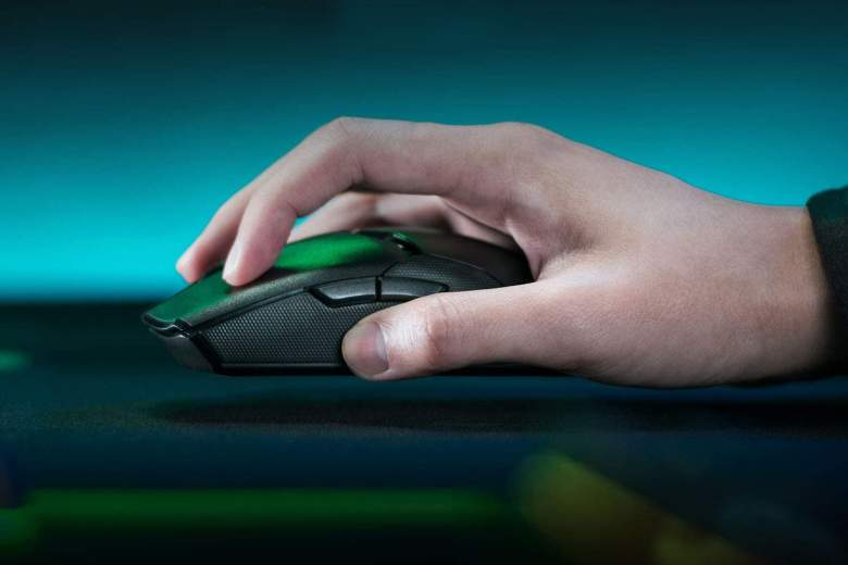 A Razer wireless gaming mouse
