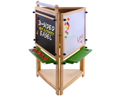U.S. Art Supply Children's 3-Sided Art Activity Easel