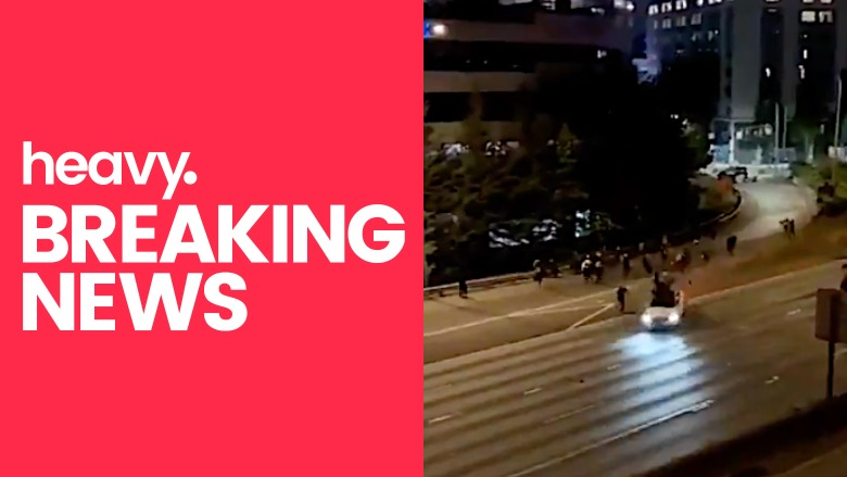 Seattle driver plows through protesters