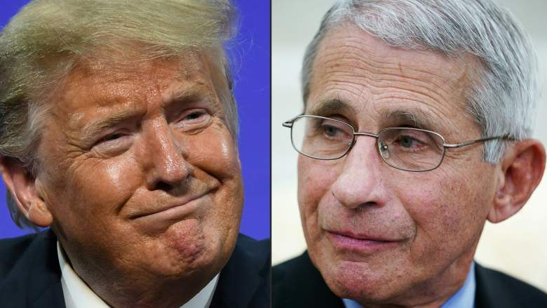 Dr. Fauci and Donald Trump