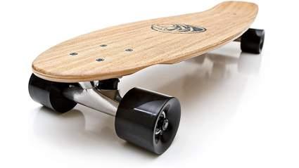 White Wave Bamboo Longboard Skateboard Complete (Missile)