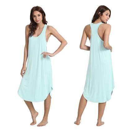 aqua bamboo racerback nightgown