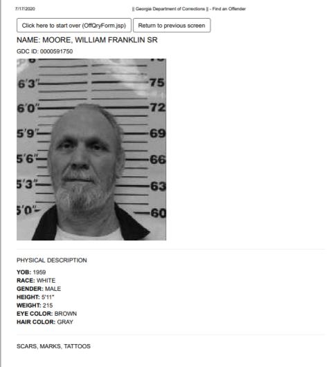 bill moore prison record