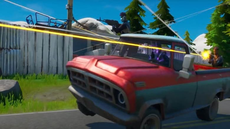fortnite cars punch card