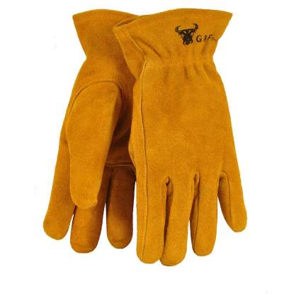Just For Kids Genuine Leather Work Gloves by G&F Products