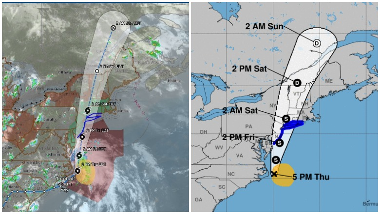 Tropical Storm Fay's map and live radar