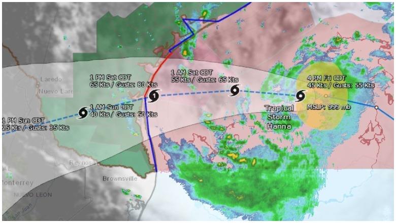 Hanna Live Radar