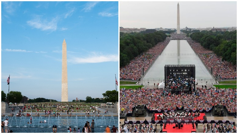 Trump Salute to America Rally 2020 vs 2019