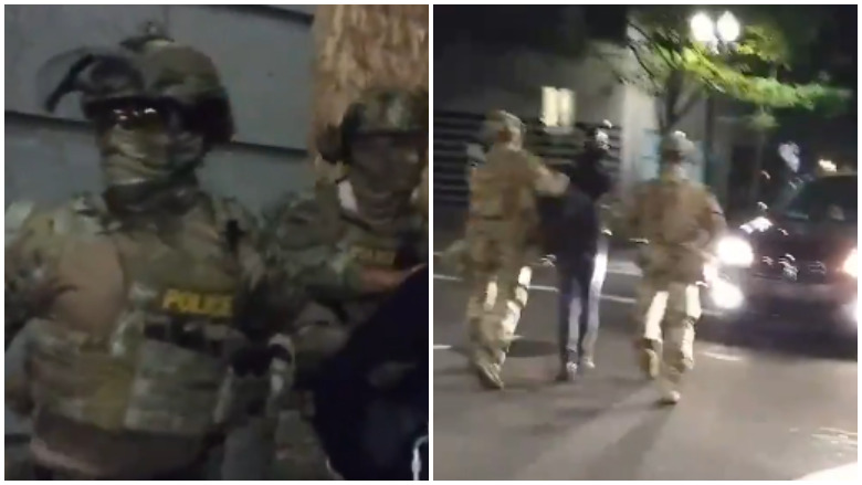 portland federal police video