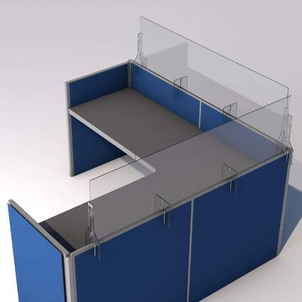 SneezeDefense Sneeze Guard Barrier for Cubicles