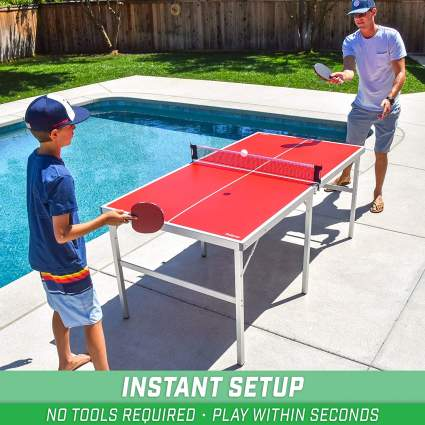 GoSports 6' x 3' Mid-Size Table Tennis Game Set