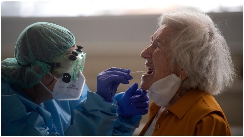 COVID 19 saliva test