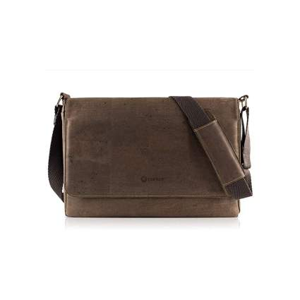Corkor Vegan Cork Messenger Laptop Bag - Copy