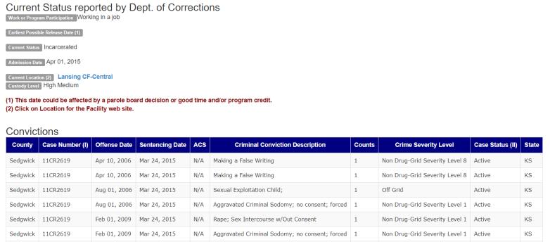 Daniel Perez Prison Record