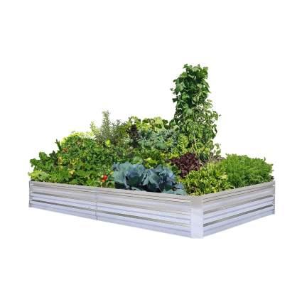 FOYUEE Galvanized Raised Garden Beds