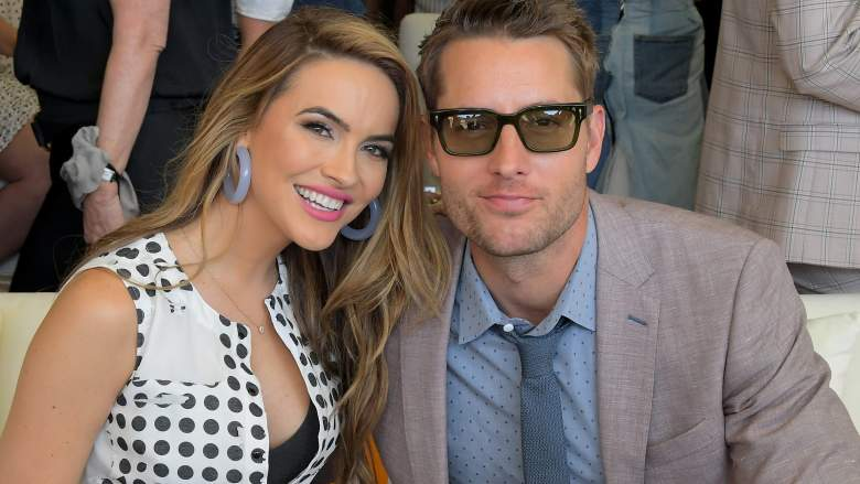 Chrishell Stause and Justin Hartley attend the 10th Annual Veuve Clicquot Polo Classic Los Angeles at Will Rogers State Historic Park on October 05, 2019 in Pacific Palisades, California.