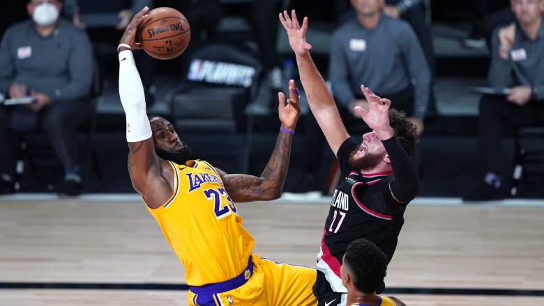 LeBron James, Lakers, at left