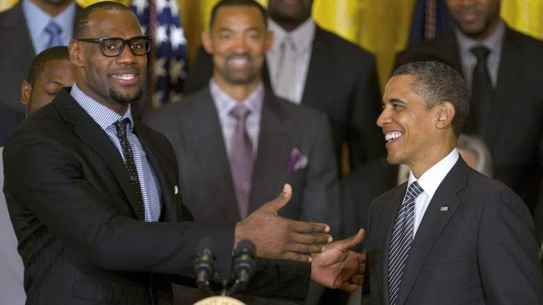 LeBron James, left, and President Barack Obama