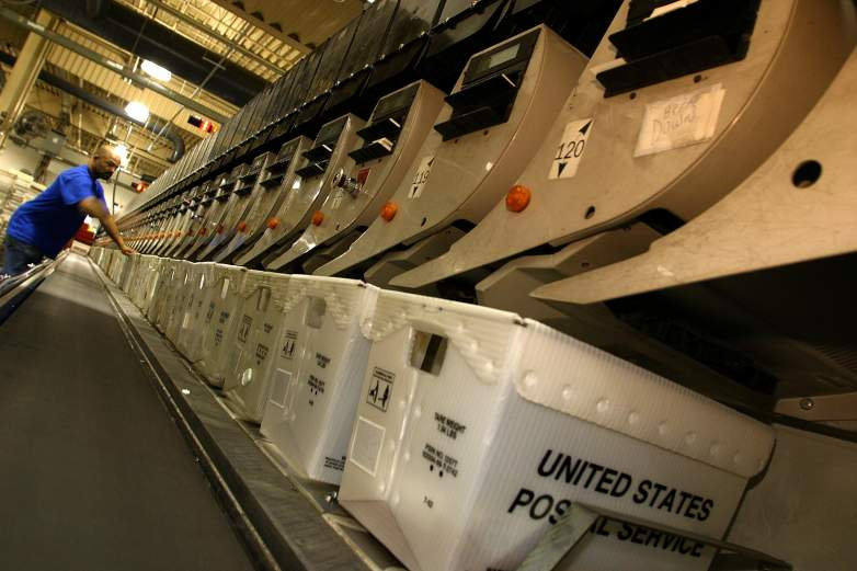 USPS sorting machine