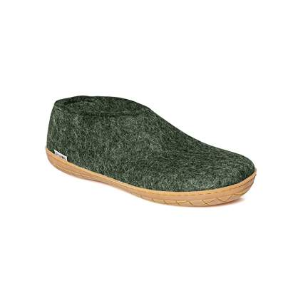 Glerups AR Unisex 100% Natural Wool Shoe with Rubber Sole