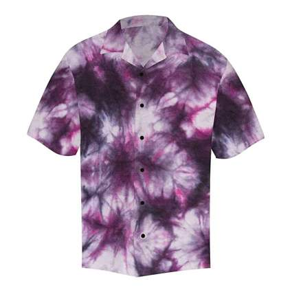 men's button down tie dye shirt