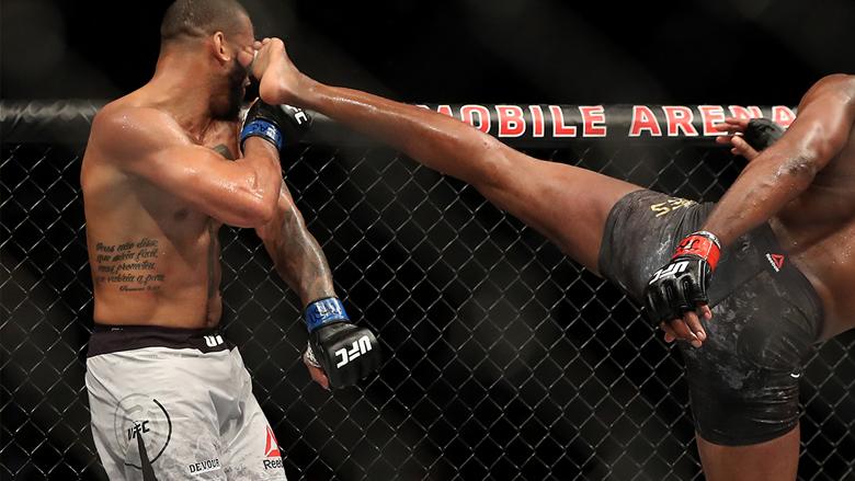 UFC Fighters Thiago Santos, Jon Jones