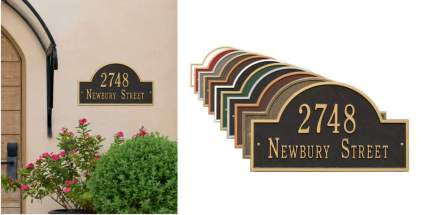 Metal Address Plaque