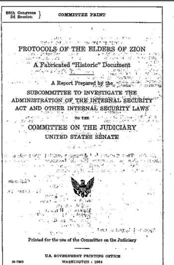 Senate Protocols Zion reprot