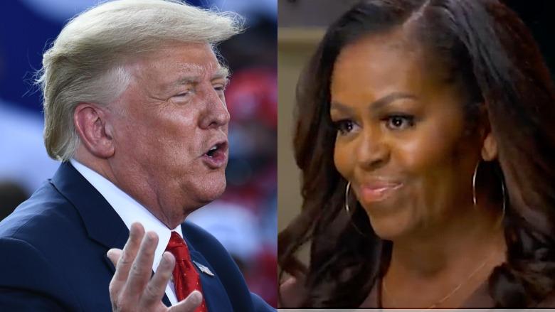 Trump and Michelle Obama