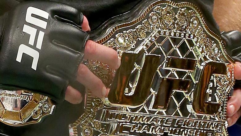 UFC Title Belt worn by Georges St-Pierre