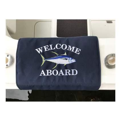 Yellowfin Tuna Custom Embroidered Boarding Mat