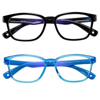 Ahxll Kids Blue Light Blocking Glasses Two-Pack