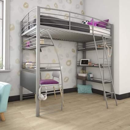 DHP Studio Loft Bunk Bed Over Desk