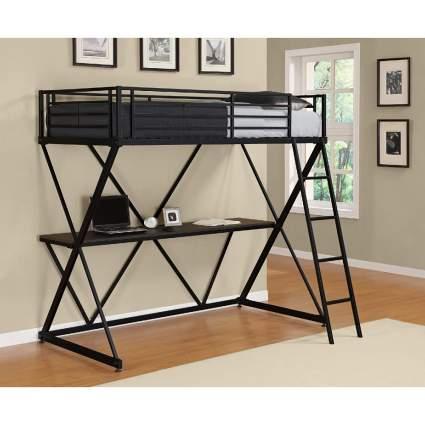 DHP X-Loft Bunk Bed with Desk