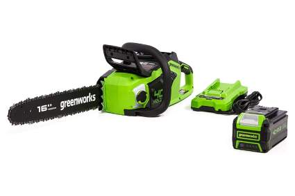 Greenworks 40V 16-Inch Cordless Electric Chainsaw