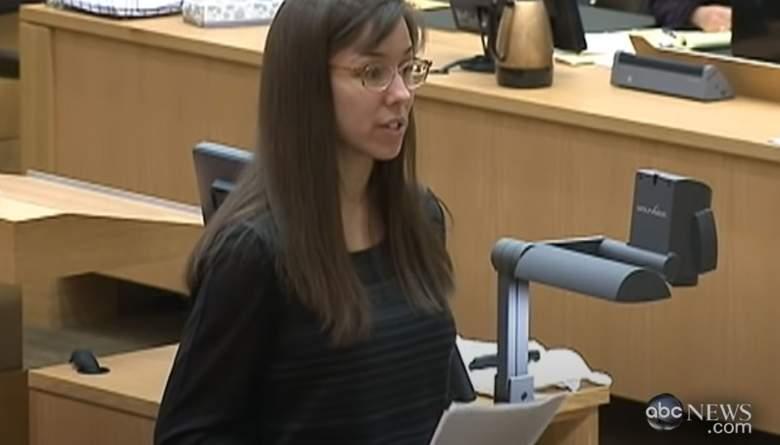Jodi Arias at her trial