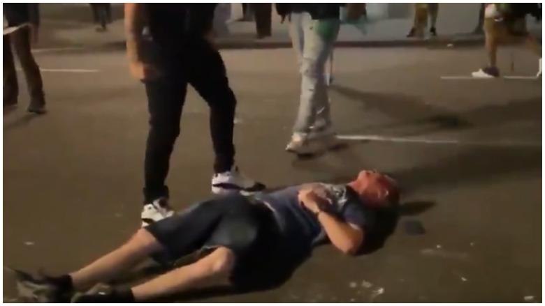 man kicked in head portland