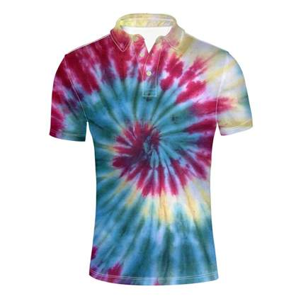 men's tie-dye golf shirt