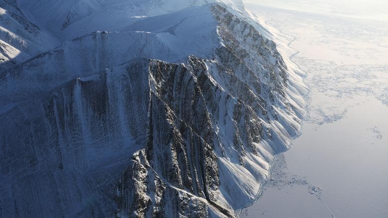 milne ice shelf, ellesmere island