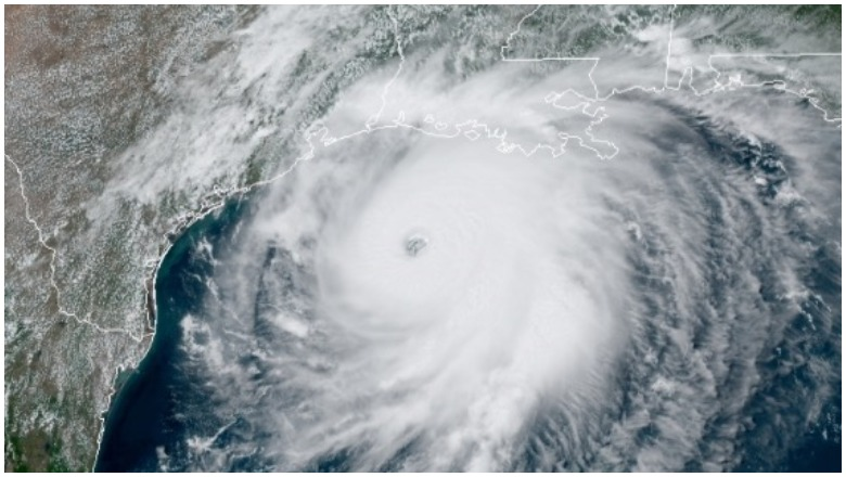 Hurricane Laura satellite image