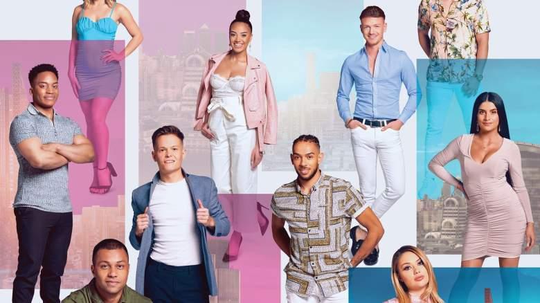 The cast of U.K. reality dating show Singletown
