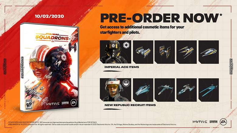 Star Wars Squadrons Pre Order