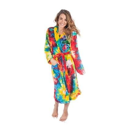 tie-dye unisex bathrobe