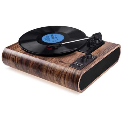 3-Speed Turntable with Bluetooth and AM/FM Radio