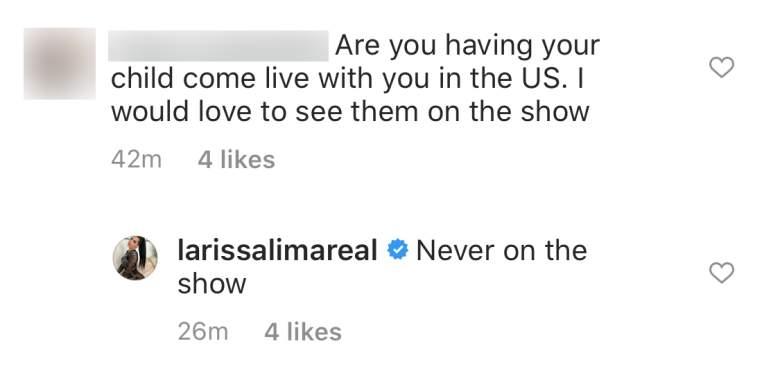 Larissa Instagram Screenshot