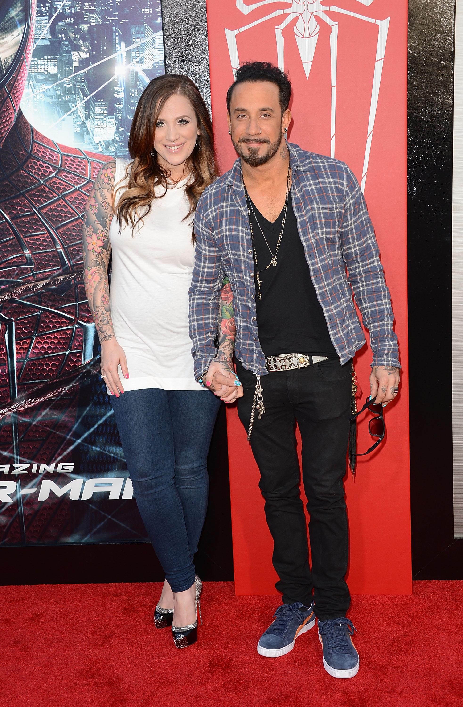 AJ McLean wife Rochelle Karidis