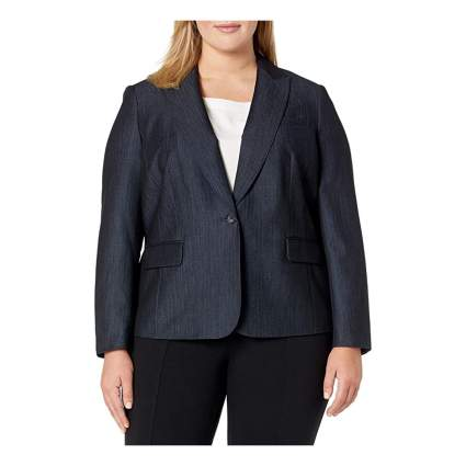 Anne Klein plus size denim jacket
