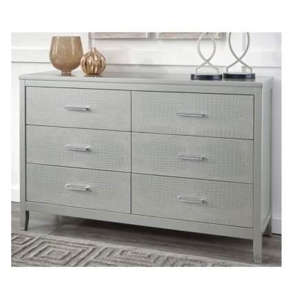 silver croco print dresser