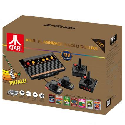 atari flashback console and controllers